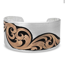 Load image into Gallery viewer, Montana Silversmiths Over the Horizon Rose Gold Cuff Bracelet
