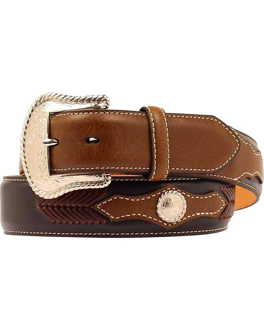 Men's Nocona Leather Lacing Round Concho Belt
