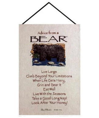 Advice From a Bear Wall Hanging