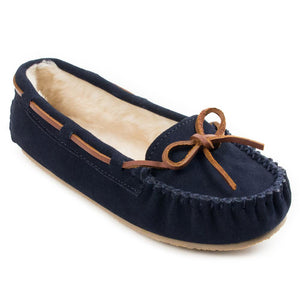Women's Minnetonka Cally Dark Navy Moccasins