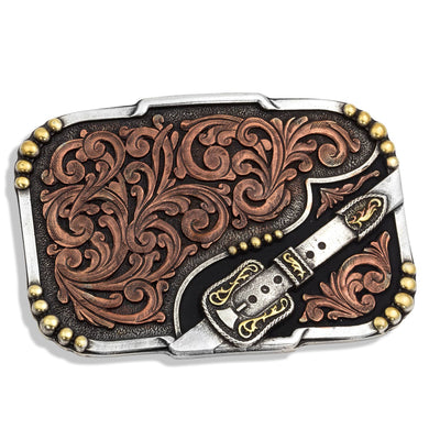 Montana Silversmiths Tri-Color Buckle Up Attitude Buckle