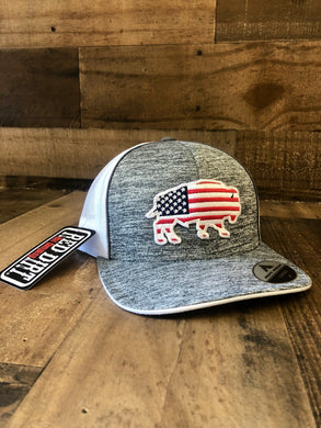 Red Dirt Hat Co American Flag Buffalo Cap