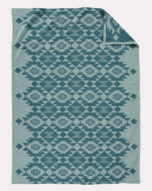 Pendleton Yuma Star Sky Blue Cotton Throw Blanket