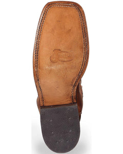 Men's Justin Bent Rail Austin Distressed Cognac Boots