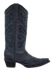 Women's Circle G by Corral Black Filigree Embroidered Boots