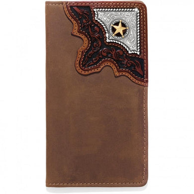 Silver Creek Brown Leather Cowboy Way Wallet