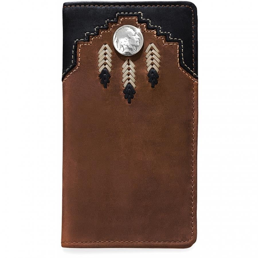 Silver Creek Chieftain Feather Checkbook Wallet