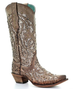 Women's Corral Golden Luminary Roots Western Boot