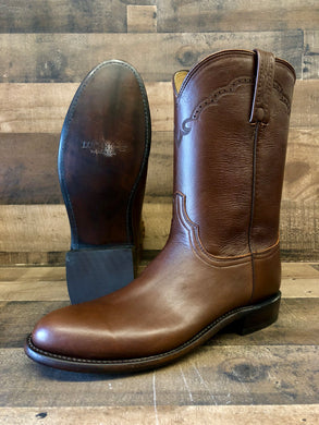 Men's Lucchese Antique Brown Lonestar Calf Boots