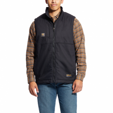 Men's Ariat Black Rebar DuraCanvas Vest