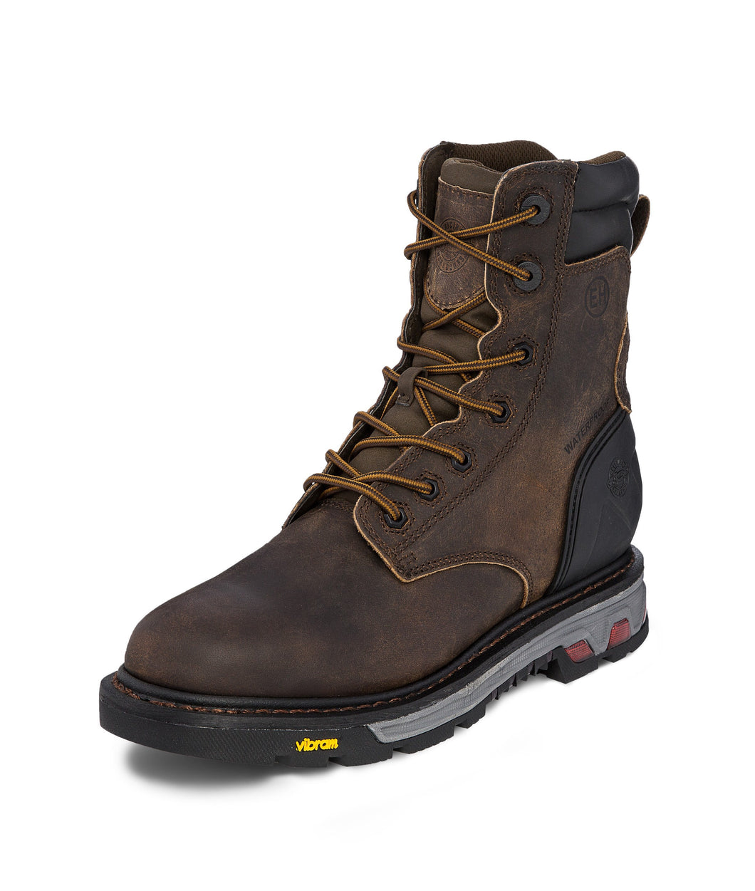 Men's Justin Laborer Brown Waterproof Work Boot
