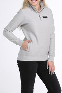 Women's Cinch Gray 1/4 ZIP Pullover