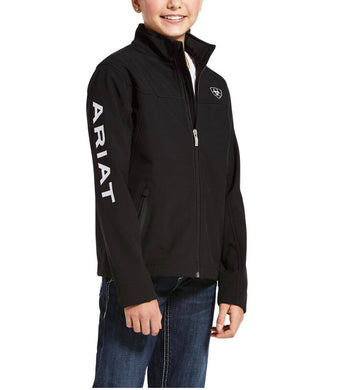 Kid's Ariat Black New Team Softshell Jacket