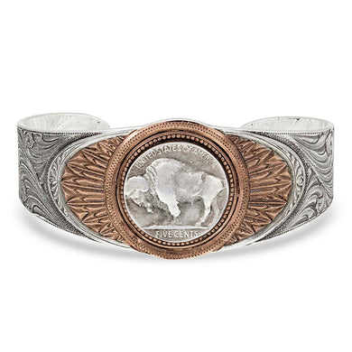Montana Silversmiths Buffalo Feather Cuff Bracelet