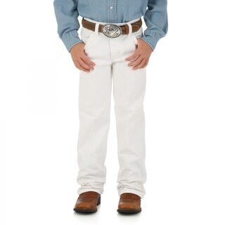 Youth Wrangler White Cowboy Cut Original Fit Jeans (Sizes 1-7)