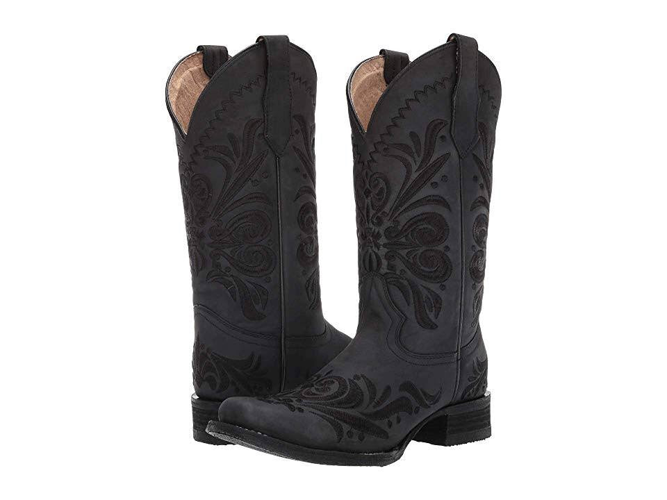 Women's Circle G by Corral Black Embroidery Boots