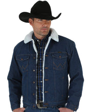 Load image into Gallery viewer, Men's Wrangler Western Sherpa Lined Denim Jacket
