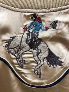Women's Roper Gold Bucking Bronc Embroidered Zip-Up