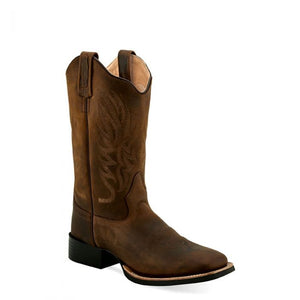 Women's Old West Brown Square Toe Boots