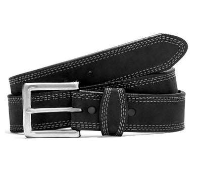 Men's Justin Triple Stitch Black Belt