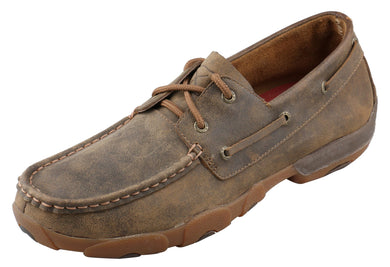 Men's Twisted X Bomber Boat Shoe Driving Moc