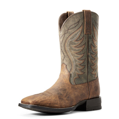 Men's Ariat Amos Sorrel Crunch & Army Green Boots