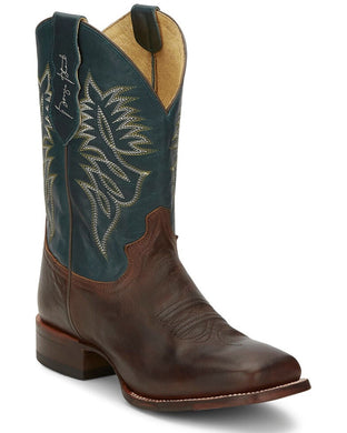 Men's Justin George Strait Check Yes Brown Boot