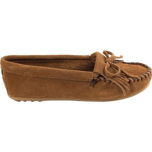 Women's Minnetonka Kilty Brown Moccasins