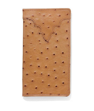 Silver Creek Ostrich Print Checkbook Wallet