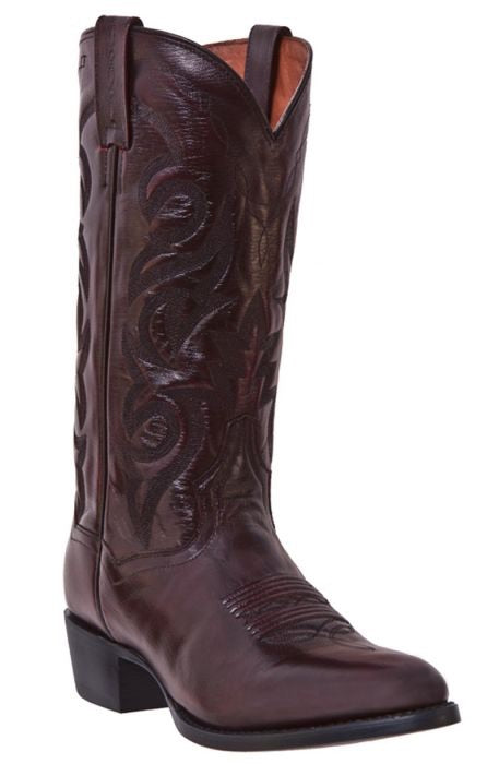 Men's Dan Post Mignon Black Cherry Leather Boots