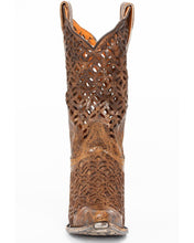 Load image into Gallery viewer, Women's Dan Post Brown Peek-A-Boo Boot