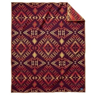 Pendleton Thunder & Earthquake Maroon Blanket