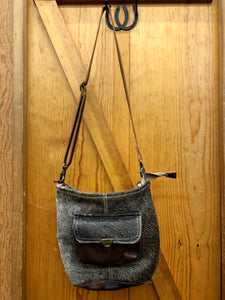 Myra Dark Brown Hide & Leather Purse