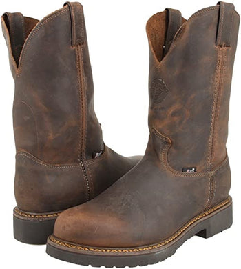 Men's Justin Balusters Pullon Bay Gaucho Work Boot