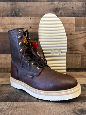Men's Justin Lace-Up Wedge Work Boots