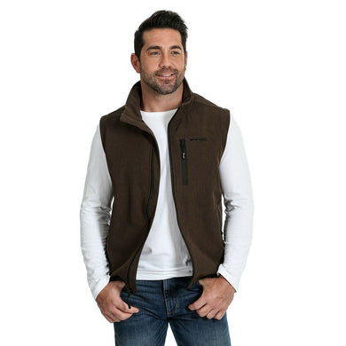 Men's Wrangler Brown Heather Trail Vest
