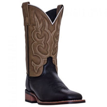 Load image into Gallery viewer, Men's Laredo Black & Tan Lodi Square Toe Boots