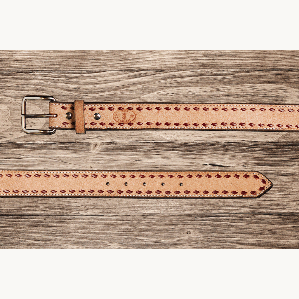 Men's Texas Saddlery Roughout Buckstitch Belt