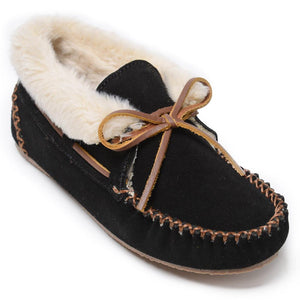 Women's Minnetonka Chrissy Black Slippers