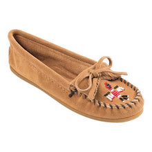 Load image into Gallery viewer, Women's Minnetonka Thunderbird II Taupe Moccasin