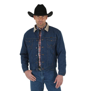 Men's Wrangler Blanket Lined Prewashed Denim Jacket