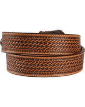 Load image into Gallery viewer, Men's Justin Bronco Basket Weave Belt