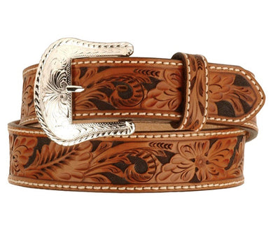 Men's Tony Lama Floral Tooled Belt