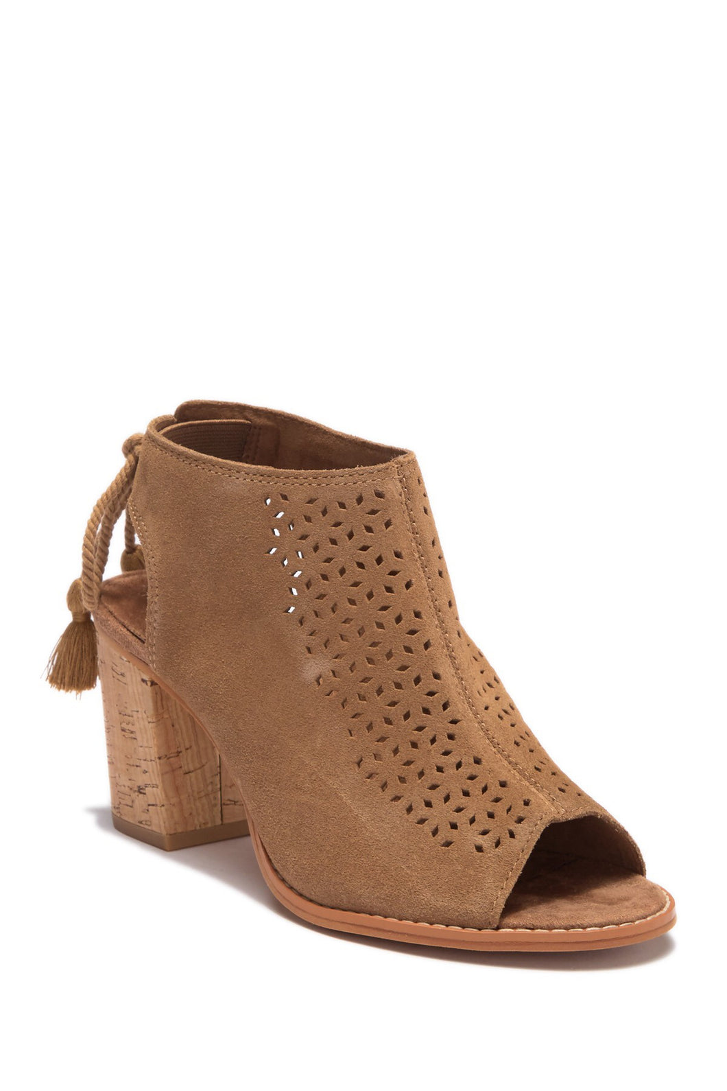 Women's Tom's Elba Toffee Suede Mosaic Tile Booties