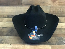 Load image into Gallery viewer, Resistol 6X George Strait Double Hock Black Felt Hat