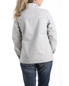 Women's Cinch Gray & White Textured Bonded Jacket