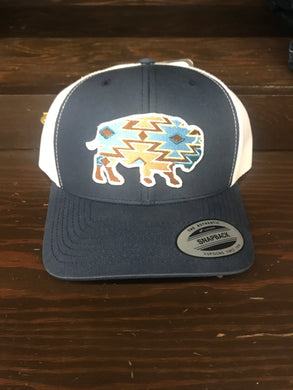 Red Dirt Hat Co Buffalo Tribal Print Ball Cap