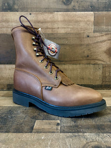 Men's Justin Aged Bark Conductor 8 Work Boots