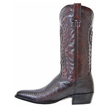 Load image into Gallery viewer, Men's Dan Post Black Cherry Raleigh Lizard Boots