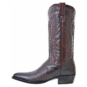 Men's Dan Post Black Cherry Raleigh Lizard Boots